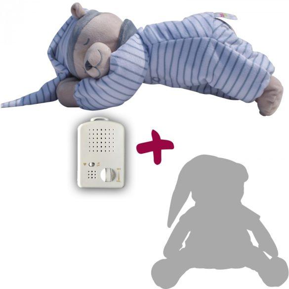 Медведь Doodoo серого цвета в полоску + сменная мягкая игрушка