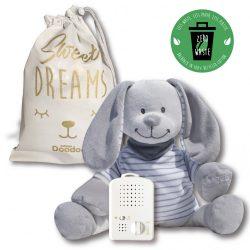 Зайчик Doodoo в серо-белую полоску + сменная мягкая игрушка