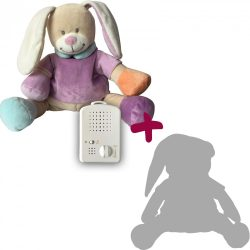 Зайчик Doodoo сиреневого цвета + сменная мягкая игрушка
