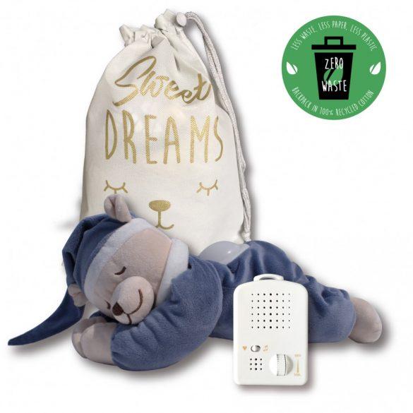 Медведь Doodoo синего джинсового цвета / с лампой + сменная мягкая игрушка