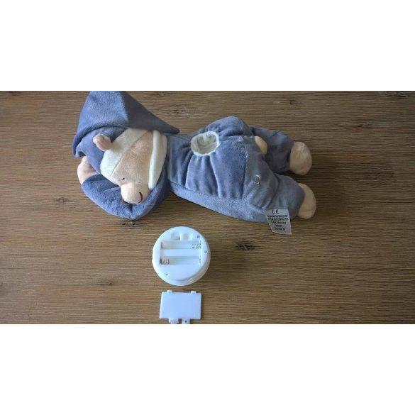 Медведь Doodoo синего джинсового цвета / с лампой