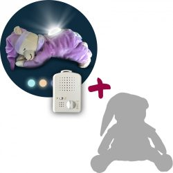 Медведь Doodoo сиреневого цвета с лампой + сменная мягкая игрушка