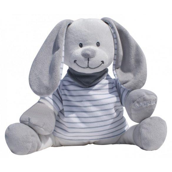 Сменная мягкая игрушка «Зайчик» Doodoo в серо-белую полоску