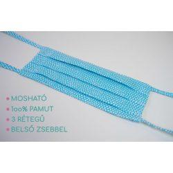 Mosható szájmaszk - kék minta