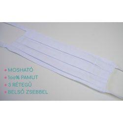 Mosható szájmaszk - fehér apró minta